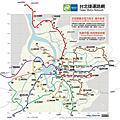 台北捷運路網 (實際比例版)