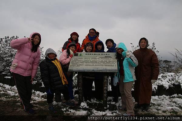 2016年1月24日四分尾山生態園區雪景