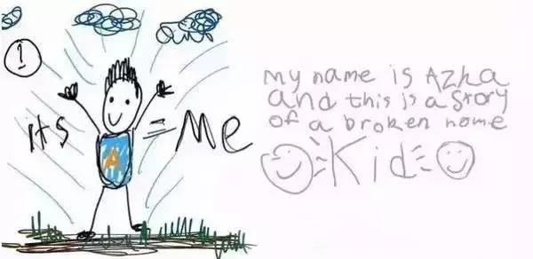 我的名字叫Azka,下面的漫畫是關於一個破碎家庭的故事