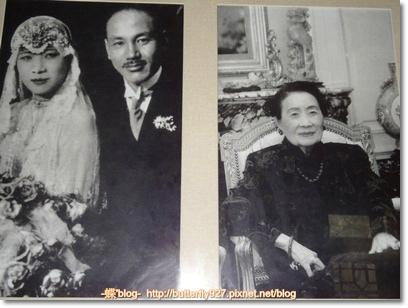 結婚照及102歲時的宋美齡