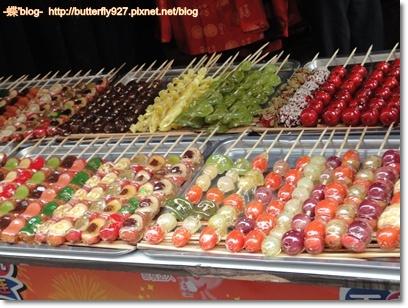 顏色絢爛的糖葫蘆