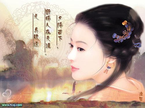 古典佳人圖(1)