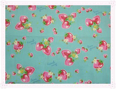 甜美ㄉ草莓圖案布