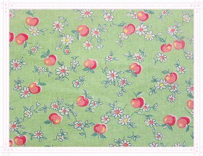 可愛ㄉ水果風 -- 蘋果 --(綠底)