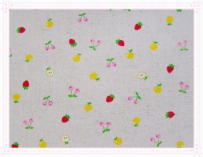 水果風**迷你款 -- 蘋果、草莓、櫻桃 --(黃色)