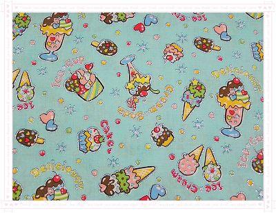 冰淇淋聖代(粉藍色)