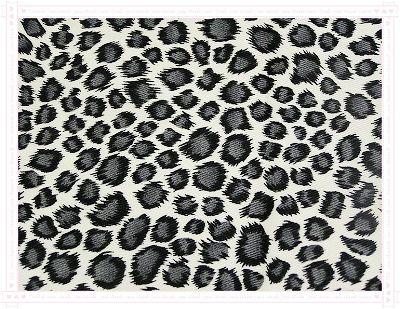 豹紋2(黑白色)