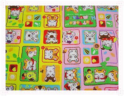 卡通布94(黃、粉桃)