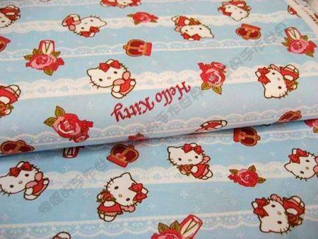 Kitty -- 愛心翅膀(粉藍色)