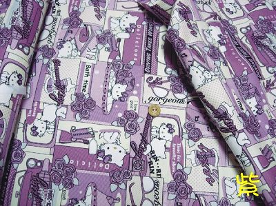 漫畫玫瑰Kitty版 - 紫色