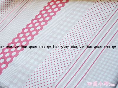 條文水玉格子棉麻布(紅色)
