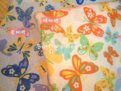 鑲晶彩色蝴蝶布款