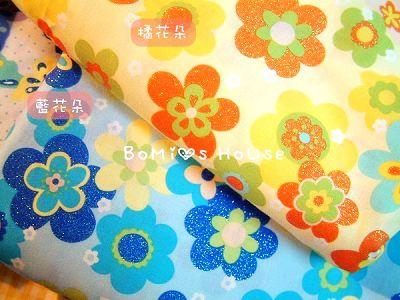 鑲晶彩色花朵布款