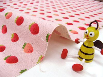 Q版草莓 - 粉紅底