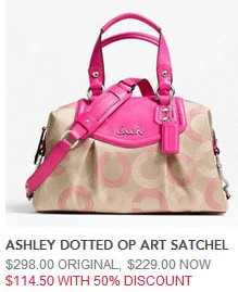 dotted op art satchel 11450
