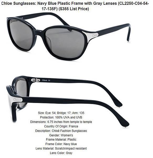 882851155081_Chloe_Sunglasses__Navy_Blue_Plastic_Frame_with_Gray_Lenses_CL2250-C04-54-17-135F