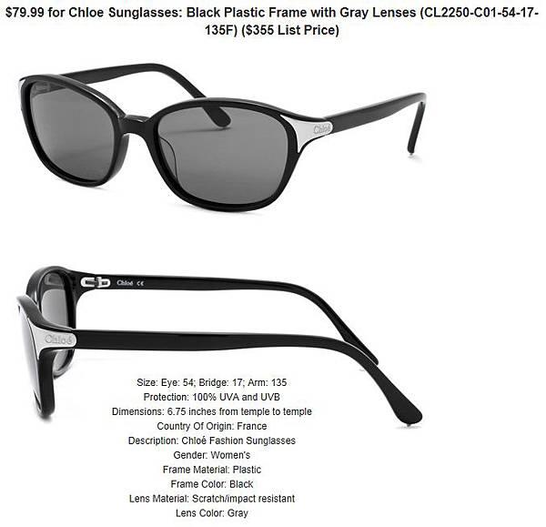 882851155050_Chloe_Sunglasses__Black_Plastic_Frame_with_Gray_Lenses_CL2250-C01-54-17-135F