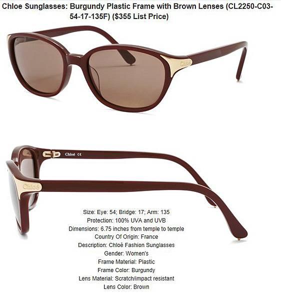 882851155074_Chloe_Sunglasses__Burgundy_Plastic_Frame_with_Brown_Lenses_CL2250-C03-54-17-135F