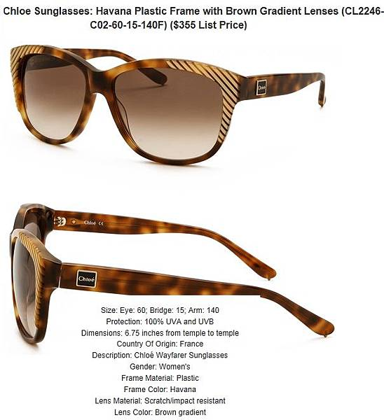 882851159058_Chloe_Sunglasses__Havana_Plastic_Frame_with_Brown_Gradient_Lenses_CL2246-C02-60-15-140F