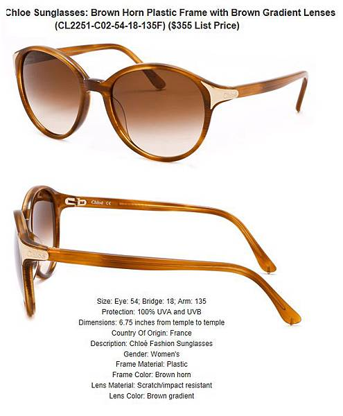 882851155142_Chloe_Sunglasses__Brown_Horn_Plastic_Frame_with_Brown_Gradient_Lenses_CL2251-C02-54-18-135F