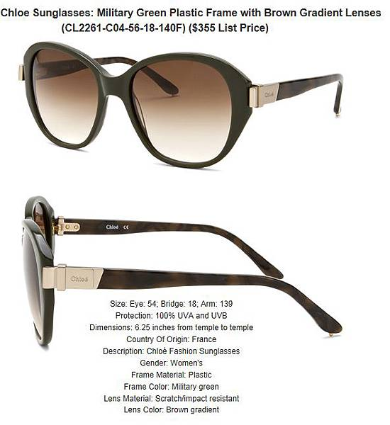 882851164212_Chloe_Sunglasses__Military_Green_Plastic_Frame_with_Brown_Gradient_Lenses_CL2261-C04-56-18-140F