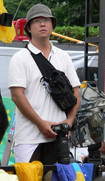 帽子攝影記者