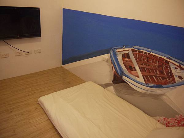 床鋪和電視