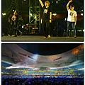 2012-05-01 13'03 「諾亞方舟」鳥巢演唱會近尾聲時阿信感動地說:「曾經我們都很期待這一天,曾經我們都是不乖的小孩,但我們的瘋狂在今天的北京鳥巢開出了最燦爛的花朵。謝謝台下每一個拿著熒光棒、每一個大聲跟著我們唱的你們!《倔強》這首歌獻給跟五月天一樣有夢想的每一個你!」