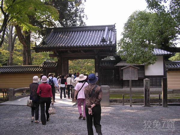 參觀金閣寺的入口