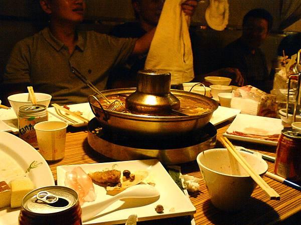整桌的火鍋料