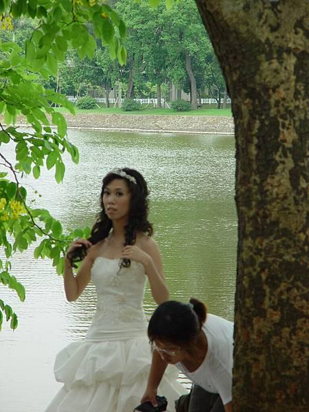 有人拍婚紗照