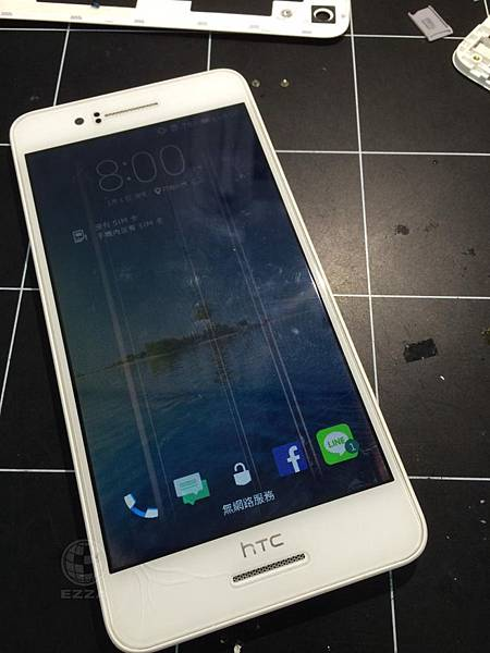 HTC 728液晶顯示異常
