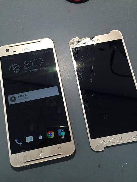 HTC X9面板破裂顯示異常