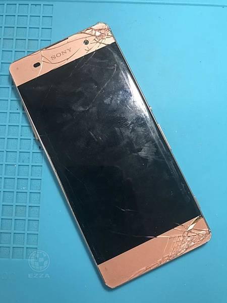 SONY XA面板嚴重摔傷