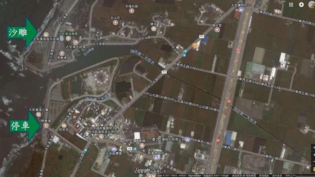 大安濱海樂園地圖
