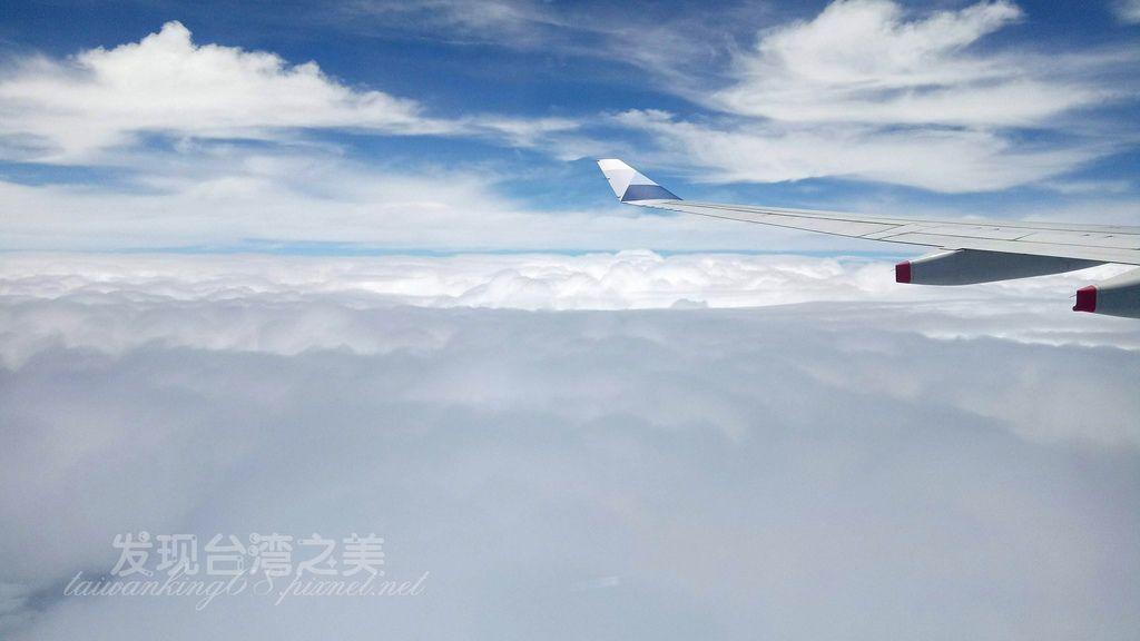 飛機上鳥瞰雲海