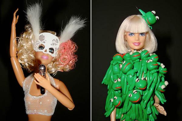 友替芭比打扮成穿著向來驚人的女神卡卡(Lady Gaga)模樣