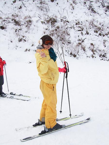看看我滑雪的英姿