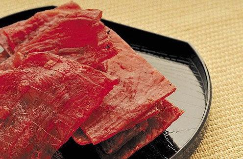 火烤蜜汁肉乾$120(半台斤)