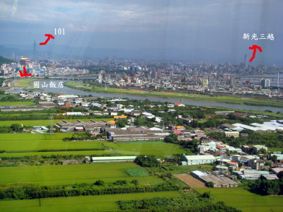 鳥瞰台北市景
