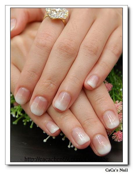 Calgel光療指甲~白璀燦亮晶晶