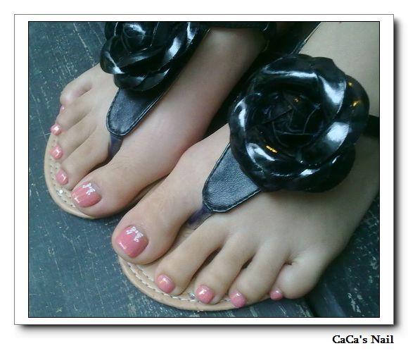 Calgel光療指甲~蜜桃麥芽糖