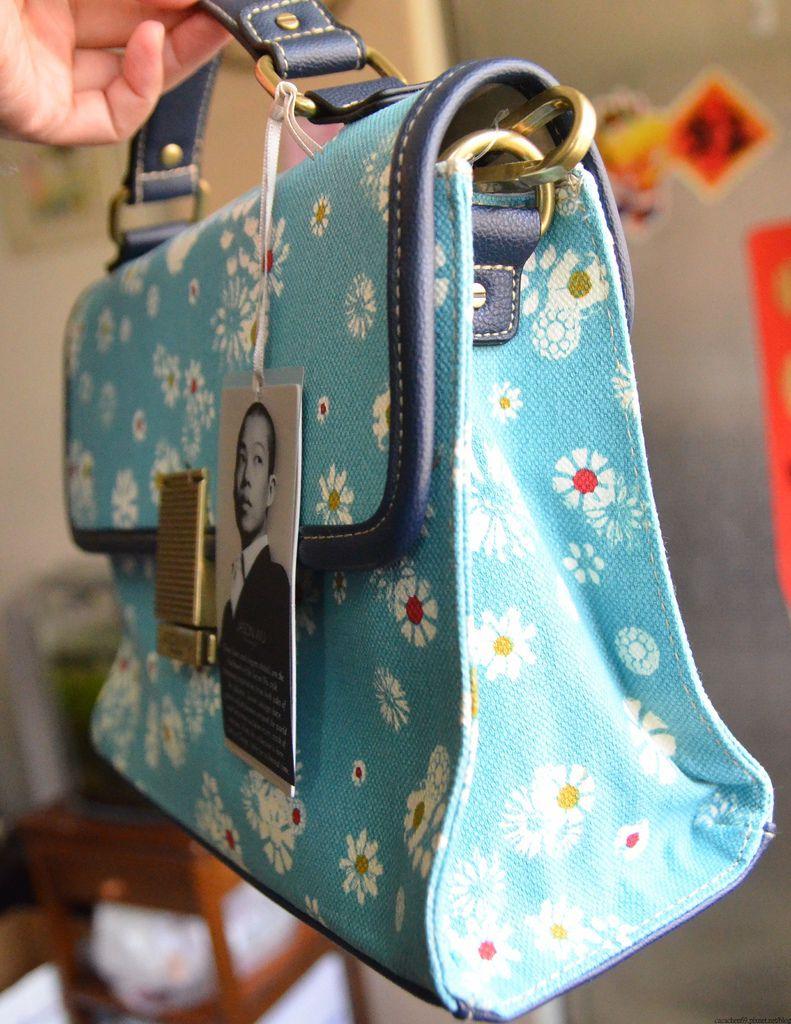 JASON WUxTarget藍色小碎花包包 (6)