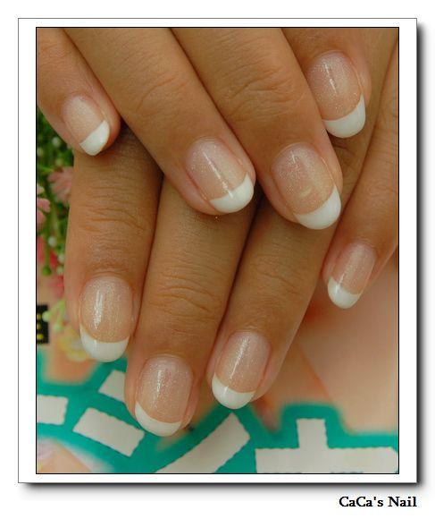 Calgel光療指甲~經典法式