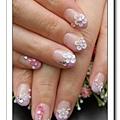 Calgel光療指甲~變化法式+粉雕