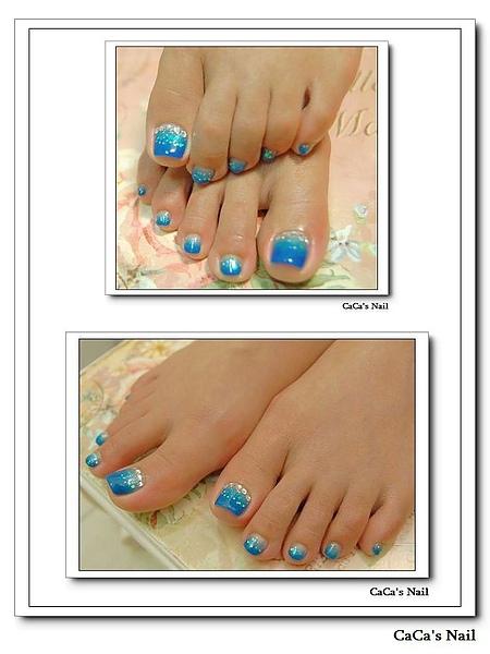 Calgel光療指甲~藍海星空