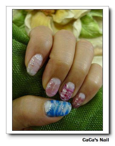 Calgel光療指甲~反法式波紋