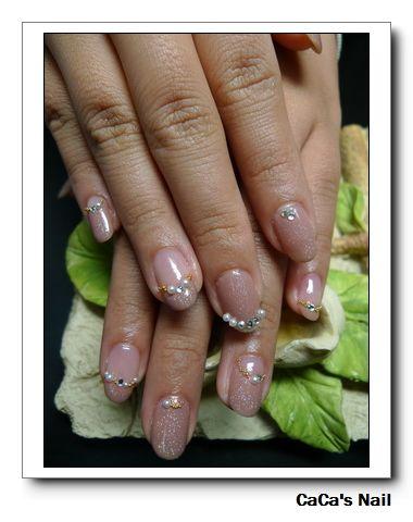 Calgel光療指甲~茶色耀鑽