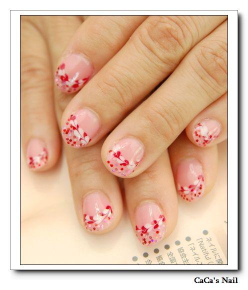 Calgel光療指甲~心型拉花