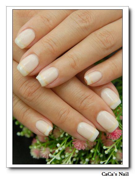Calgel光療指甲~法式光療